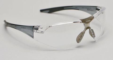 Image of Elvex Delta Plus Avion Slim Fit Shooting/Ballistic Safety Glasses Clear Anti-Fog Lens Black Frame