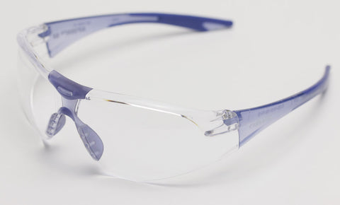 Image of Elvex Delta Plus Avion Slim Fit Kids Shooting/Safety Glasses Clear Lens Blue Frame