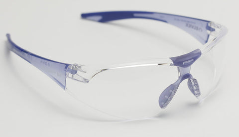 Image of Elvex Avion Slim Fit Kids Shooting/Safety Glasses Clear/Blue WELSG-18C-SLIM BLUE