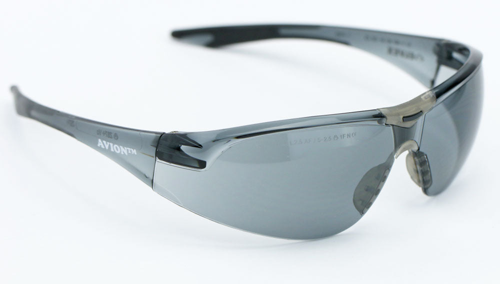 Elvex Avion Safety/Shooting/Sun Glasses Smoke A/F Lens Z87.1WELSG-18G-AF-BLK