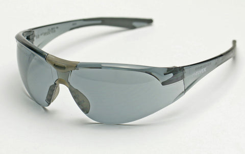 Image of Elvex Delta Plus Avion SF Slim Fit Safety/Shooting/Tactical/Sun Glasses Anti-Fog Smoke Lens Black Frame