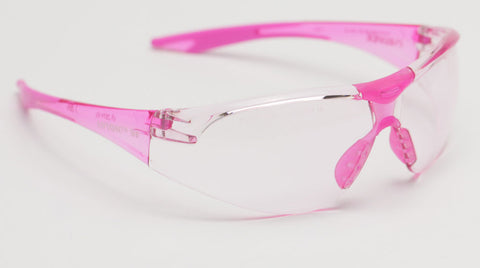 Image of Elvex Delta Plus Avion Slim Fit Girls/Women/Shooting Safety Glasses Pink Tint Lens Pink Frame