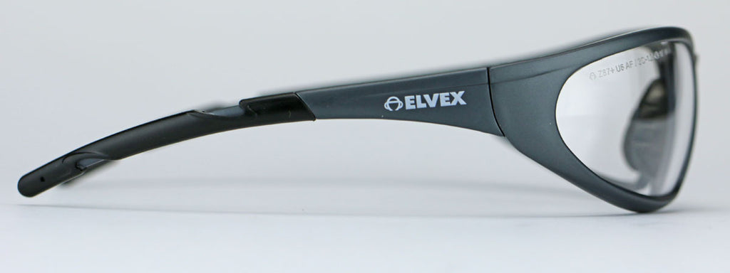Elvex Delta Plus XTS™ Safety/Tactical/Shooting Glasses Clear Lens/Black Frame