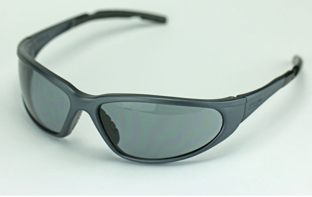 Elvex Delta Plus XTS Safety/Motorcycle/Sun/Shooting/Tactical Glasses Gray Lens/Black Z87.1