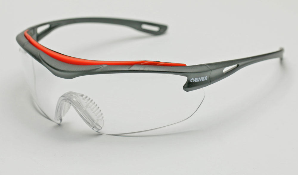 Elvex Brow-Specs Safety/Shooting Glasses Clear Ballistic A/F Lens WELSG-31C-AF