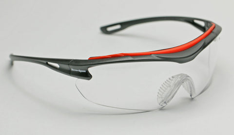 Image of Elvex Delta Plus Brow-Specs Safety/Shooting Glasses Clear Anti-Fog Lens