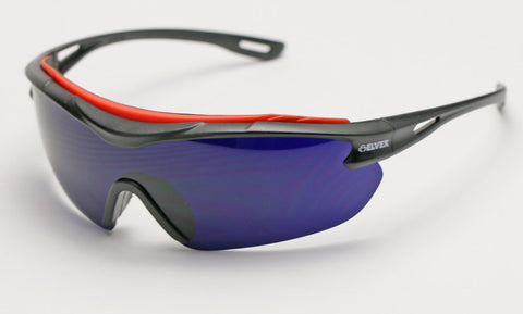 Elvex Delta Plus Brow-Specs Foundry/Fabrication/Safety Glasses Cobalt Blue Anti-Fog Lens