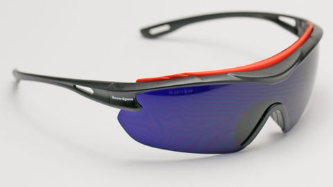 Image of Elvex Delta Plus Brow-Specs Foundry/Fabrication/Safety Glasses Cobalt Blue Anti-Fog Lens