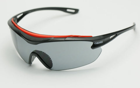 Image of Elvex Brow-Specs Shooting/Sun Safety Glasses Grey Anti Fog Lens Z87.1WELSG-31G-AF