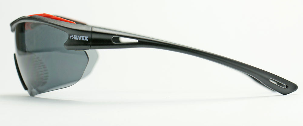 Elvex Brow-Specs Shooting/Sun Safety Glasses Grey Anti Fog Lens Z87.1WELSG-31G-AF