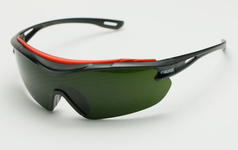 Image of Elvex Delta Plus BrowSpecs Safety Glasses Welding Shade Lens/Black Frame Shade 3 or Shade 5