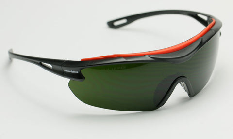 Image of Elvex BrowSpecs Safety Glasses Welding Shade Lens/Black Frame