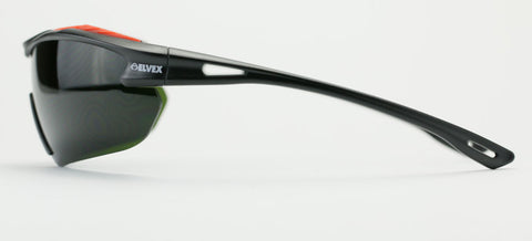 Elvex Delta Plus BrowSpecs Safety Glasses Welding Shade Lens/Black Frame Shade 3 or Shade 5