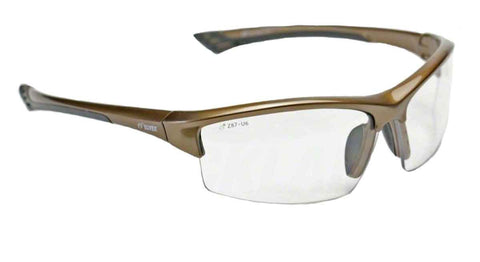 Image of Elvex Delta Plus Sonoma™ Safety Glasses Clear Lens Brown Frame Z87.1