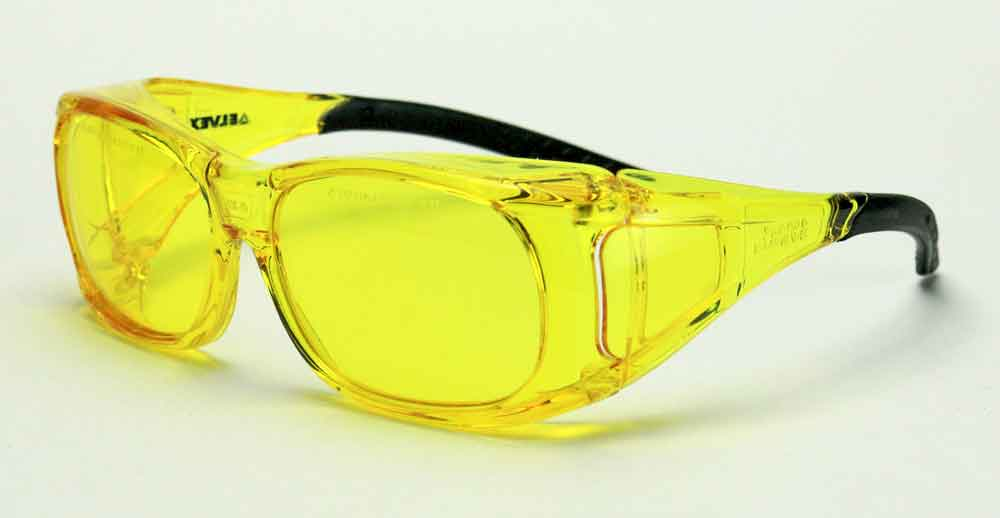 Elvex Delta Plus OVR Specs II Safety/Shooting/Driving Glasses Over Fit Glasses/Amber Lens Z87.1