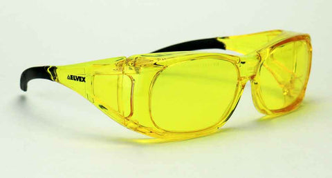 Elvex OVR Specs II Safety/Shooting/Driving Glasses Over Fit Glasses/Amber Lens Z87.1