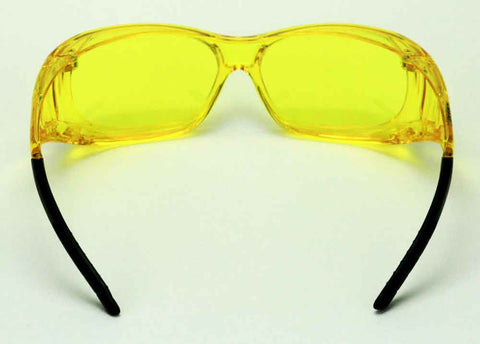 Image of Elvex Delta Plus OVR Specs II Safety/Shooting/Driving Glasses Over Fit Glasses/Amber Lens Z87.1