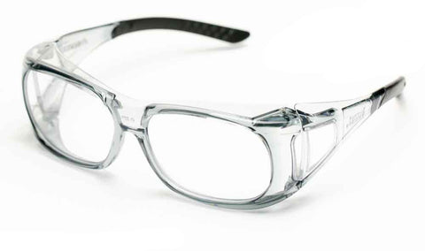 Image of Elvex Delta Plus OVR Spec II Safety/Shooting/Tactical Glasses Over Fit Glasses Clear Z87.1