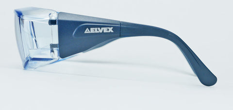 Image of Elvex Delta Plus OVR Specs III Metal Detectable Safety Glasses, Over Fit Glasses /Blue Lens