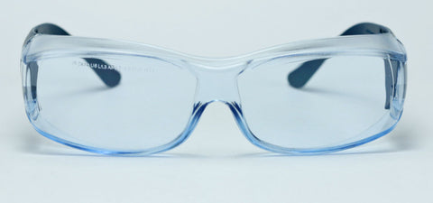 Elvex OVR Specs III Metal Detectable Safety Glasses, Over Fit Glasses /Blue Lens