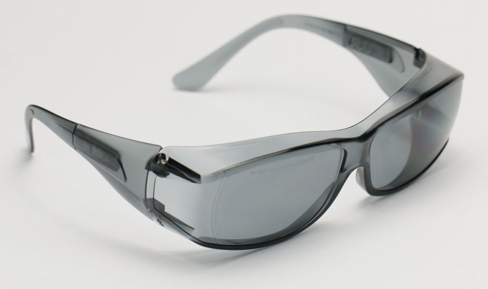 Elvex OVR Specs III Safety/Motorcycle/Sun Glasses Over Fit Glasses/Grey Lens