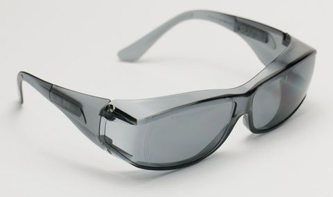 Image of Elvex OVR Specs III Safety/Motorcycle/Sun Glasses Over Fit Glasses/Grey Lens