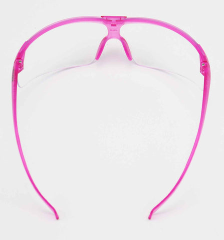 Image of Elvex Delta Plus Helium 20 Safety Glasses Pink Frame Clear Anti-Fog Lens