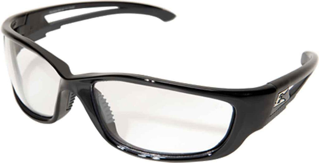 Edge Eyewear Kazbek XL Extra Wide Safety Glasses Black/Clear Lens SKXL111