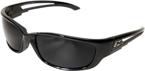 Image of Edge Eyewear Kazbek XL Extra Wide Safety/Sun Glasses Black/Smoke Lens SKXL116