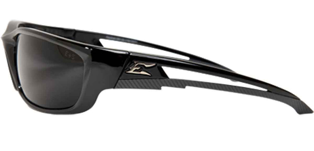 Edge Eyewear Kazbek XL Extra Wide Safety/Sun Glasses Black/Smoke Lens SKXL116