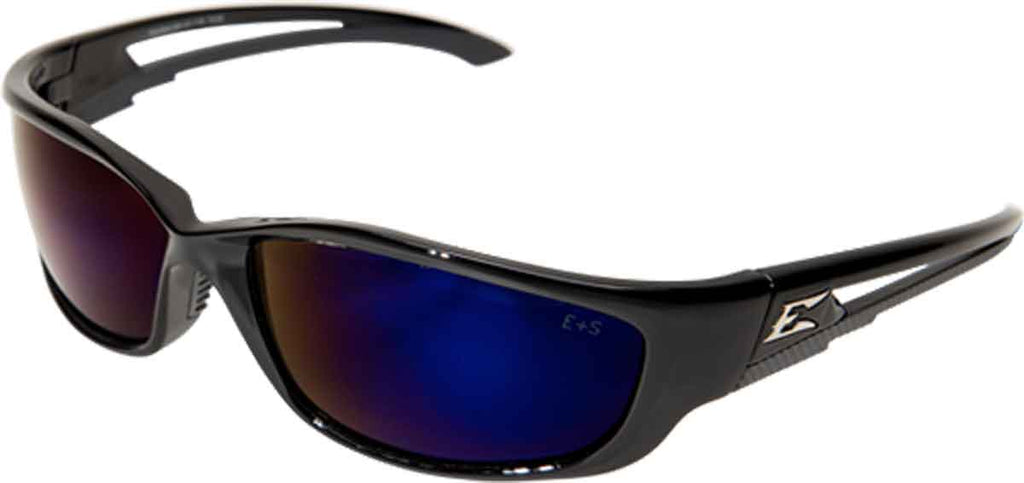 Edge Eyewear Kazbek XL™ Safety/Sun Glasses Blue Mirror Lens Tactical SKXL118