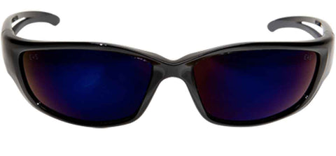 Image of Edge Eyewear Kazbek XL™ Safety/Sun Glasses Blue Mirror Lens Tactical SKXL118