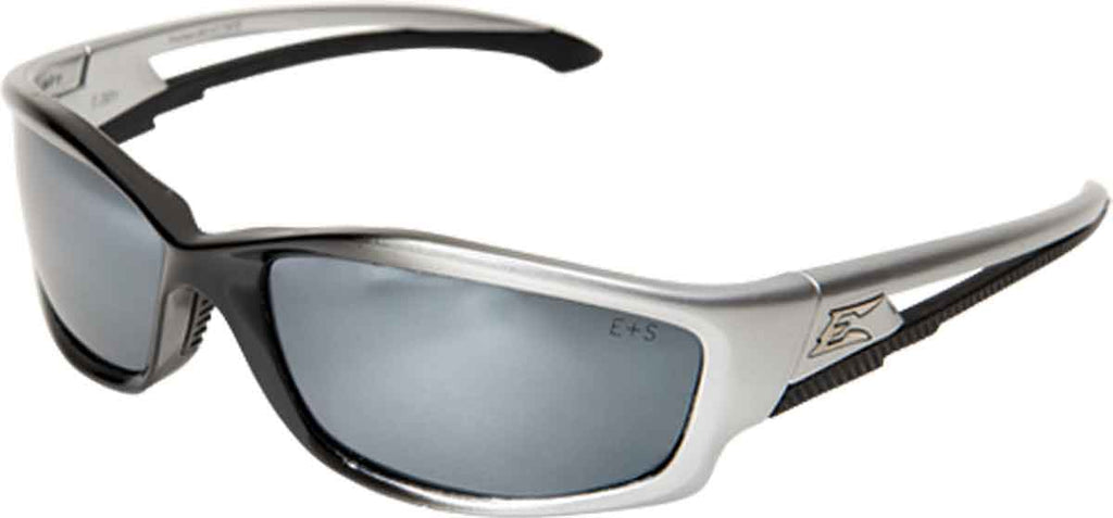 Edge Eyewear Kazbek Safety/Sun Glasses Silver Mirror Lens Ballistic SK117 Z87.1