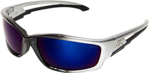 Edge Eyewear Kazbek Safety/Sun Glasses  Blue Mirror Lens Ballistic SK118 Z87.1