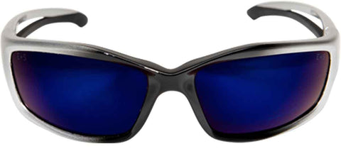Image of Edge Eyewear Kazbek Safety/Sun Glasses  Blue Mirror Lens Ballistic SK118 Z87.1