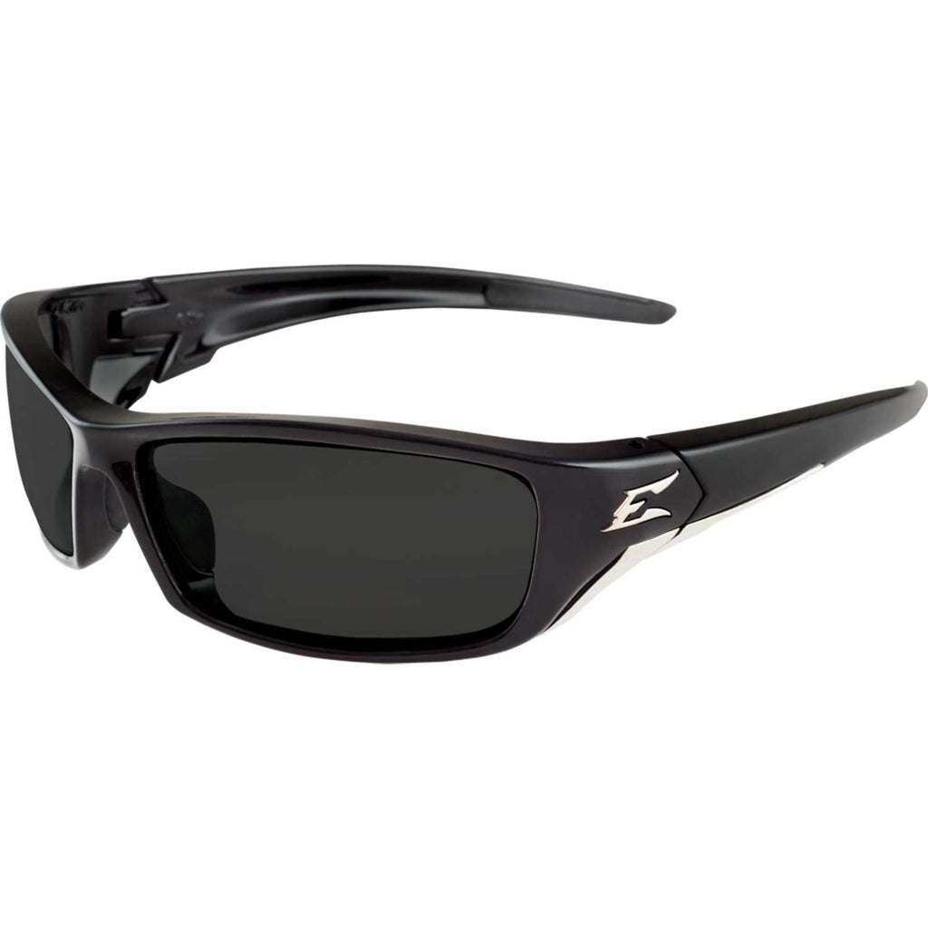 Edge Eyewear Reclus Safety/Sun Glasses Gloss Black Frame Smoke Lens SR116