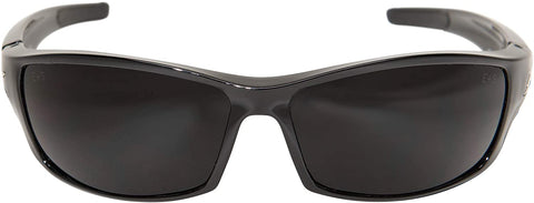 Image of Edge Eyewear Reclus Safety/Sun Glasses Gloss Black Frame Smoke Lens SR116