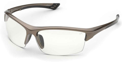 Elvex Delta Plus Sonoma™ Safety Glasses Clear Lens Brown Frame Z87.1