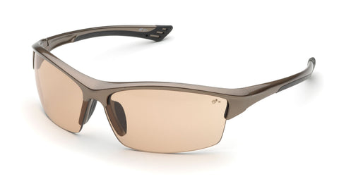 Elvex Delta Plus Sonoma Safety/Sun Glasses Light Brown Lens Z87.1