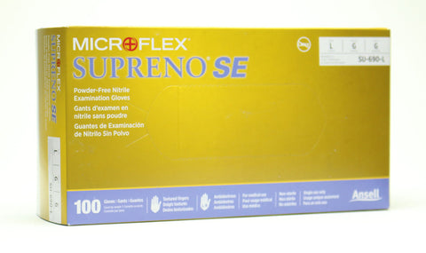 Image of Ansell Microflex Supreno SE Nitrile Disposable Gloves