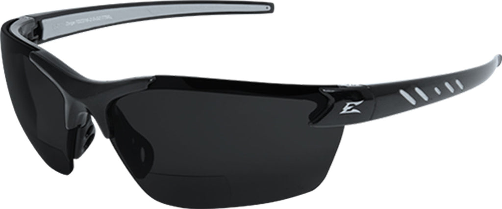 Edge Eyewear Zorge G2 Bifocal Safety/Reading Glasses Gray Lens 2.0 Magnifier