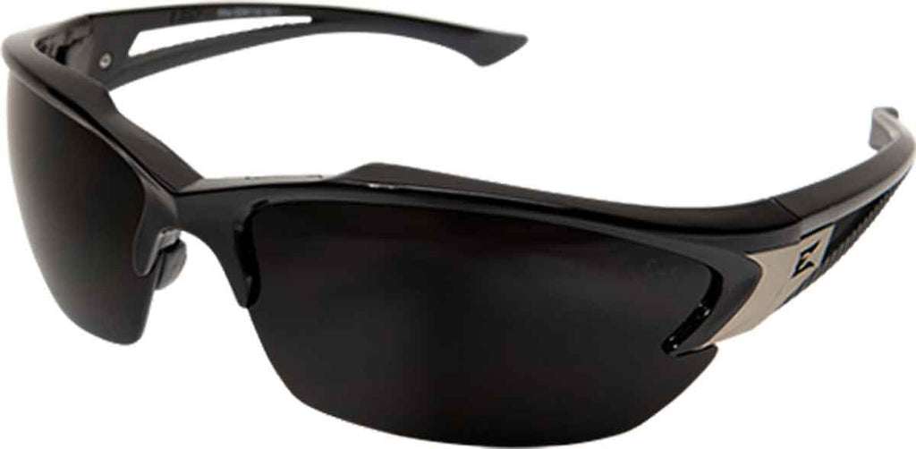 Edge Eyewear Khor Safety/Sun Glasses Black/Smoke Polarized Ballistic TSDK216