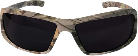 Edge Eyewear Brazeau Safety/Sun Glasses Forrest Camo Frame with Polarized Smoke Lens TXB216CF