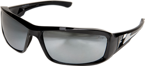 Edge Eyewear Brazeau Safety/Sun Glasses Silver Mirror Lens Lens XB117 Z87.1
