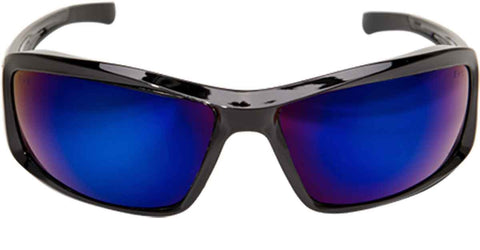 Image of Edge Eyewear Brazeau Safety/Sun Glasses Black/Blue Mirror lens Ballistic XB118