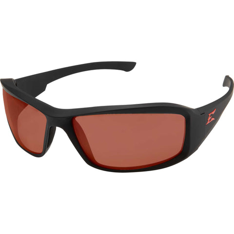 Edge Eyewear Brazeau Torque™ Safety/Sun Glasses Black/Copper Lens Ballistic XB135