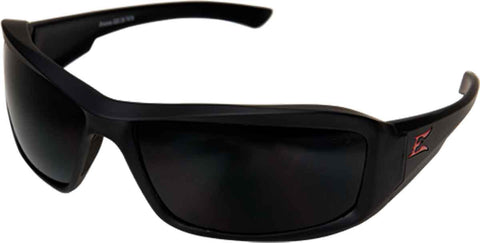 Edge Eyewear Brazeau Torque™ Safety/Sun Glasses Black/Smoke Lens Ballistic XB136