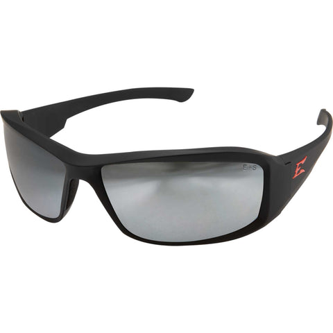 Edge Eyewear Brazeau Torque Safety/Sun Glasses Matte Black Frame with Silver Mirror Lens XB137
