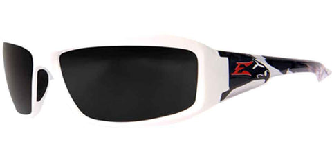 Edge Eyewear Brazeau Patriot 2™ Safety/Sun Glasses Smoke Lens Ballistic Z87.1