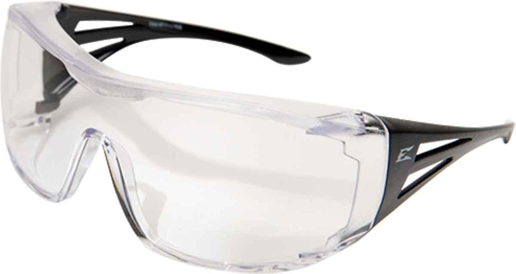 Edge Eyewear OSSA Over Fit Rx Safety Glasses Clear/Black Ballistic XF111-L